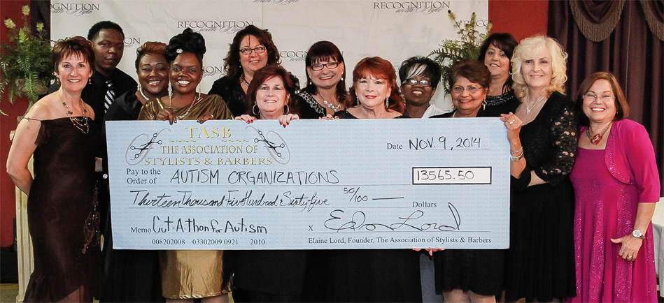 Big Check for Autism 2014, The Association of Stylists and Barbers